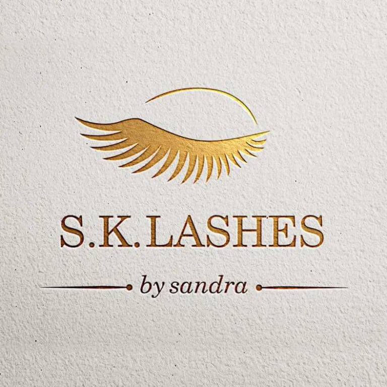 Sandra-Kabro-Lashes-Logo-Design-By-Suncode-IT-Solutions-Erbil-Web-Graphic-Designer