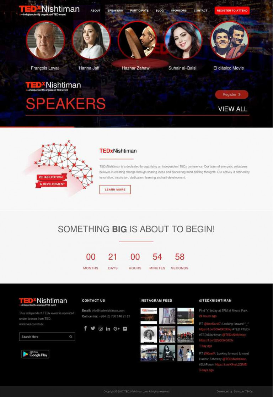 tedxnishtiman-website-suncode-it-solutions-web-development-ebil-iraq